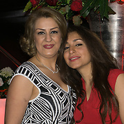 London,England,UK : 25th May 2016 : Atena Rezaei (R) Leila Motlagh (L) from Iran attend the Marilyn Monroe: Legacy of a Legend launch at the Design Centre, Chelsea Harbour, London. Photo by See Li