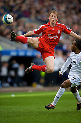 BOLTON, ENGLAND - Sunday, March 2, 2008: Liverpool's Dirk Kuyt in action against Bolton Wanderers during the Premiership match at the Reebok Stadium. (Photo by David Rawcliffe/Propaganda)