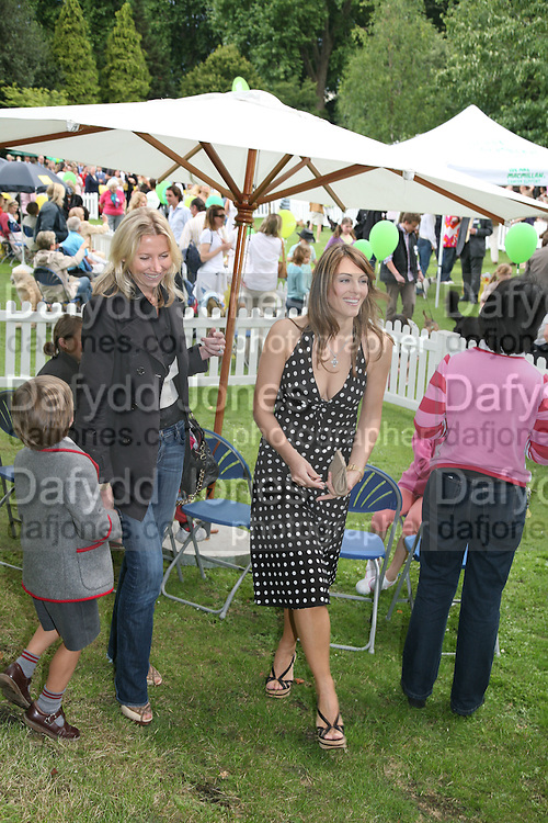 ELIZABETH HURLEY,  Sixth Macmillan Dog Day for Macmillan Cancer Support, Supported by Savills. Royal Hospital Chelsea, London, SW3. 3 July 2007. -DO NOT ARCHIVE-© Copyright Photograph by Dafydd Jones. 248 Clapham Rd. London SW9 0PZ. Tel 0207 820 0771. www.dafjones.com.