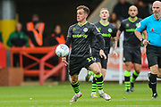 Forest Green Rovers Elliott Frear(17) on the ball during the EFL Sky Bet League 2 match between Cheltenham Town and Forest Green Rovers at Jonny Rocks Stadium, Cheltenham, England on 2 November 2019.