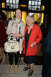 Left to right, SARAH LOOMS and MRS MARY WESTON at a private view of 'Horst: Photographer of Style' at The V&A Museum, London on 3rd September 2014.