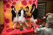 A team poses for a picture during the Burlesque Hall of Fame features Barecats in Bowling with a bowling tournament in honor of Jennie Lee on Friday, June 2, 2017.   L.E. Baskow