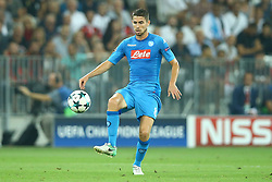 August 22, 2017 - Nice, France - Jorginho of Napoli  during the UEFA Champions League Qualifying Play-Offs round, second leg match, between OGC Nice and SSC Napoli at Allianz Riviera Stadium on August 22, 2017 in Nice, France. (Credit Image: © Matteo Ciambelli/NurPhoto via ZUMA Press)