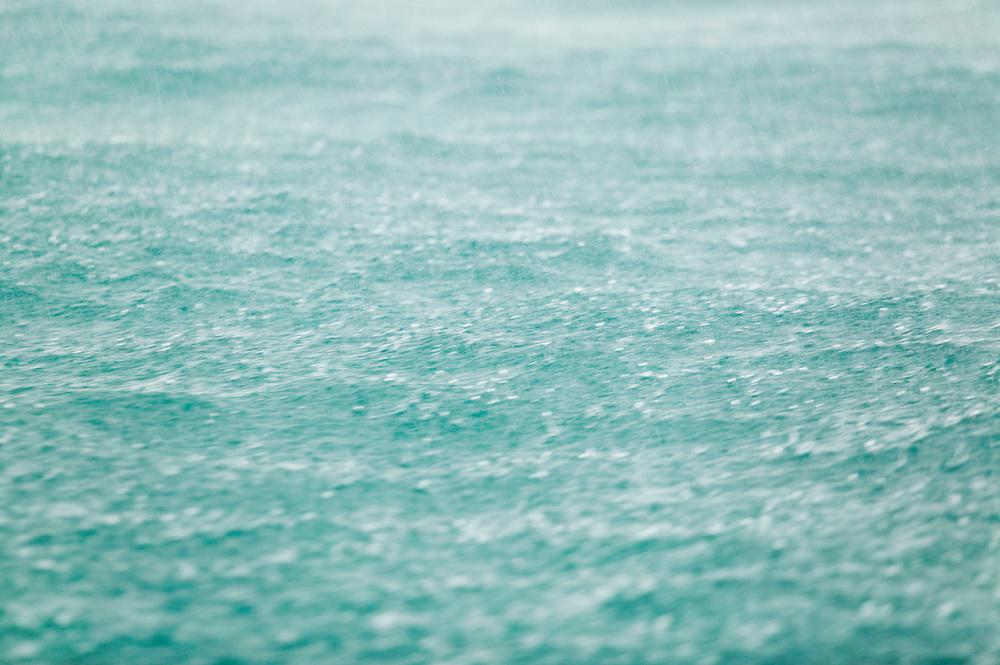 Rain falling on tropical water Thailand&amp;#xA;<br />