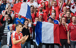 19.06.2016, Stade Pierre Mauroy, Lille, FRA, UEFA Euro, Frankreich, Schweiz vs Frankreich, Gruppe A, im Bild Granit Xhaka (SUI) // Granit Xhaka (SUI) during Group A match between Switzerland and France of the UEFA EURO 2016 France at the Stade Pierre Mauroy in Lille, France on 2016/06/19. EXPA Pictures © 2016, PhotoCredit: EXPA/ JFK