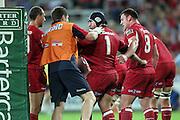 Ben Daley bleeding. Queensland Reds v NSW Waratahs. Investec Super Rugby Round 10 Match, 24 April 2011. Suncorp Stadium, Brisbane, Australia. Reds won 19-15. Photo: Clay Cross / photosport.co.nz