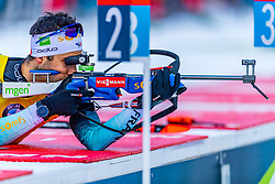 16.01.2020, Chiemgau Arena, Ruhpolding, GER, IBU Weltcup Biathlon, Sprint, Herren, im Bild Martin Fourcade (FRA) // Martin Fourcade of France during the men's sprint competition of BMW IBU Biathlon World Cup at the Chiemgau Arena in Ruhpolding, Germany on 2020/01/16. EXPA Pictures © 2020, PhotoCredit: EXPA/ Stefan Adelsberger