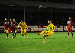 Matty Taylor of Bristol Rovers pulls a goal back from the penalty spo - Mandatory byline: Neil Brookman/JMP - 07966 386802 - 21/11/2015 - FOOTBALL - Checkatrade.com Stadium - Crawley, England - Crawley Town v Bristol Rovers - Sky Bet League Two