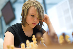 Manca Kralj in action during the Slovenian National Chess Championships in Ljubljana on August 9, 2010.  (Photo by Vid Ponikvar / Sportida)