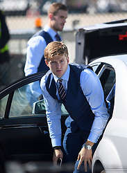© Licensed to London News Pictures. 06/06/2016. Luton, UK. ERIC DYER arrives at the airport before Members of England national football squad board a plane at Luton airport in Bedfordshire, England, to head for their training camp in France, ahead of the start of the UEFA Euro 2016 championships.  Photo credit: Ben Cawthra/LNP