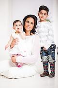 SABC's Morning Live anchor, Leanne Manas and her Family shot for the September issue Cover of Living & Loving Magazine.