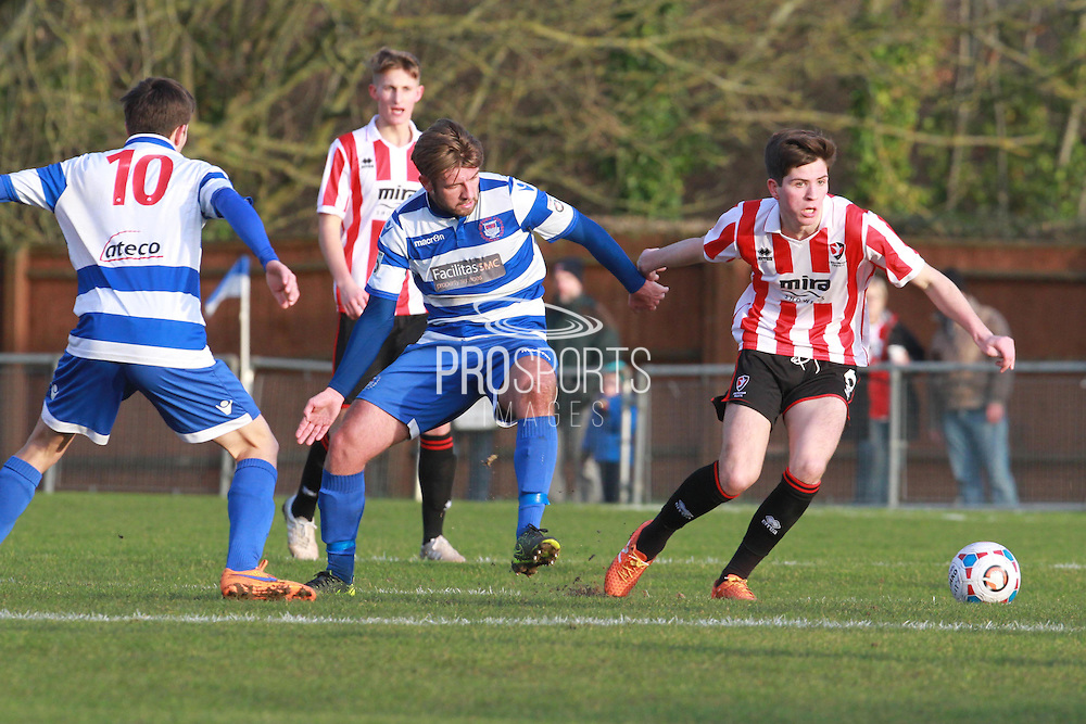 Cain Harries during the FA Trophy match between Oxford City and Cheltenham Town at Court Place Farm, Oxford, United Kingdom on 16 January 2016. Photo by Antony Thompson.