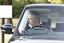 © Licensed to London News Pictures. 18/07/2020. Windsor, UK. Prince Andrew is seen at Windsor the day after Princess Beatrice married Edoardo Mapelli Mozzi in secret ceremony at Windsor Castle. Photo credit: Peter Macdiarmid/LNP
