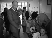 President Patrick Jonh Hillery visiting the Sterwart's Hospital, Dublin,<br />