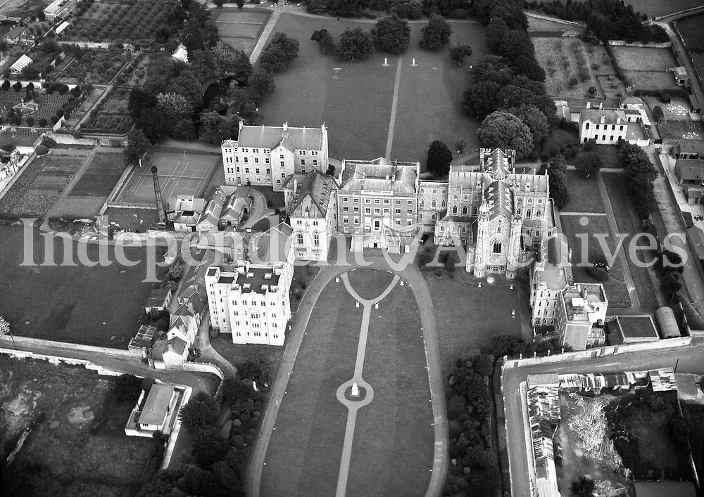 A274 Loreto, Rathfarnham.   19/10/56. (Part of the Independent Newspapers Ireland/NLI collection.)<br /> <br /> <br /> These aerial views of Ireland from the Morgan Collection were taken during the mid-1950's, comprising medium and low altitude black-and-white birds-eye views of places and events, many of which were commissioned by clients. From 1951 to 1958 a different aerial picture was published each Friday in the Irish Independent in a series called, 'Views from the Air'.The photographer was Alexander 'Monkey' Campbell Morgan (1919-1958). Born in London and part of the Royal Artillery Air Corps, on leaving the army he started Aerophotos in Ireland. He was killed when, on business, his plane crashed flying from Shannon.