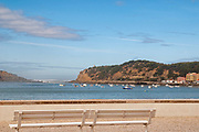 Seascape of the Bay of Sao Martinho do Porto a civil parish Alcobaca Municipality, Portugal