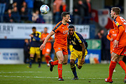 Luton Town defender Matthew Pearson (6) tussles with Oxford United forward Jerome Sinclair (9) during the EFL Sky Bet League 1 match between Luton Town and Oxford United at Kenilworth Road, Luton, England on 4 May 2019.