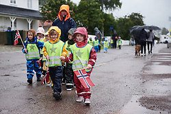 Fans wait to greet riders in Åsgårdstrand, home to Edvald Munch at Ladies Tour of Norway 2019 - Stage 1, a 128 km road race from Åsgårdstrand to Horten, Norway on August 22, 2019. Photo by Sean Robinson/velofocus.com