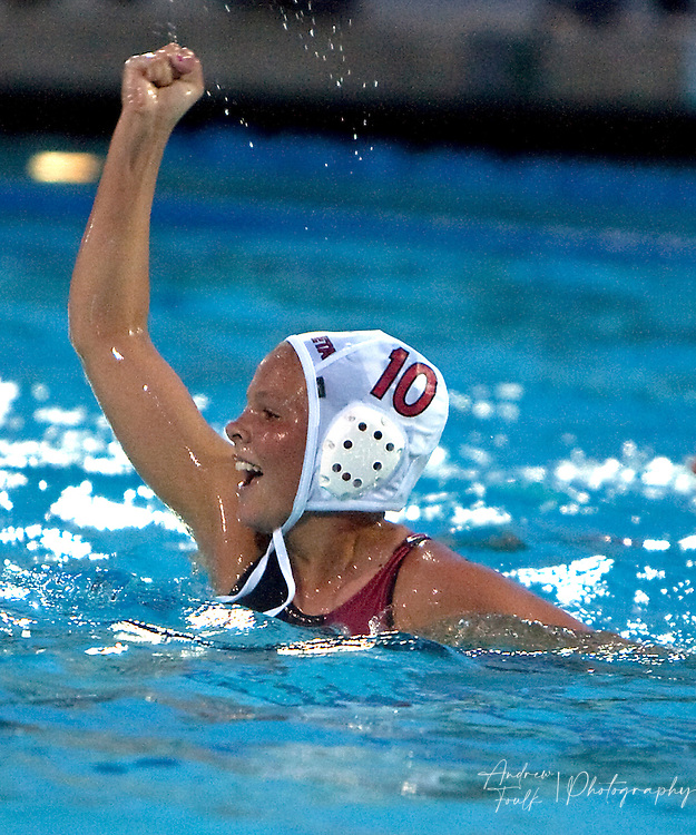 /Andrew Foulk/ For The Californian/ .Murrieta Valley's Paige Virgil,  celebrates after scoring the game winning goal over St Lucy's during the CIF Southern Section Division III championship match.