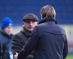 Forfar Athletic manager Dick Campbell and Steven Pressley, Falkirk manager at the end..Falkirk 4 v 1 Forfar Athletic, Scottish Cup fifth round tie, 2/2/2013. .©Michael Schofield.