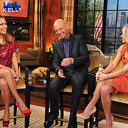 "Jennifer Lopez, Howie Mandel and  and Kelly Ripa are seen on ""Live with Kelly!""  in New York City."