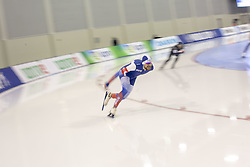 March 9, 2019 - Salt Lake City, Utah, USA - Denis Yuskov of Russia competes in the mens 1000m speed skating finals at the ISU World Cup at the Olympic Oval in Salt Lake City, Utah. (Credit Image: © Natalie Behring/ZUMA Wire)