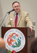 Mike Laster comments during the dedication and ribbon cutting for the Mandarin Immersion Magnet School, October 24, 2016.