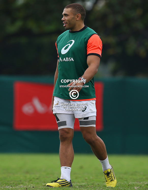 DURBAN, SOUTH AFRICA - SEPTEMBER 01: Bryan Habana during the South African national rugby team training session at Peoples Park on September 01, 2015 in Durban, South Africa. (Photo by Steve Haag/Gallo Images)