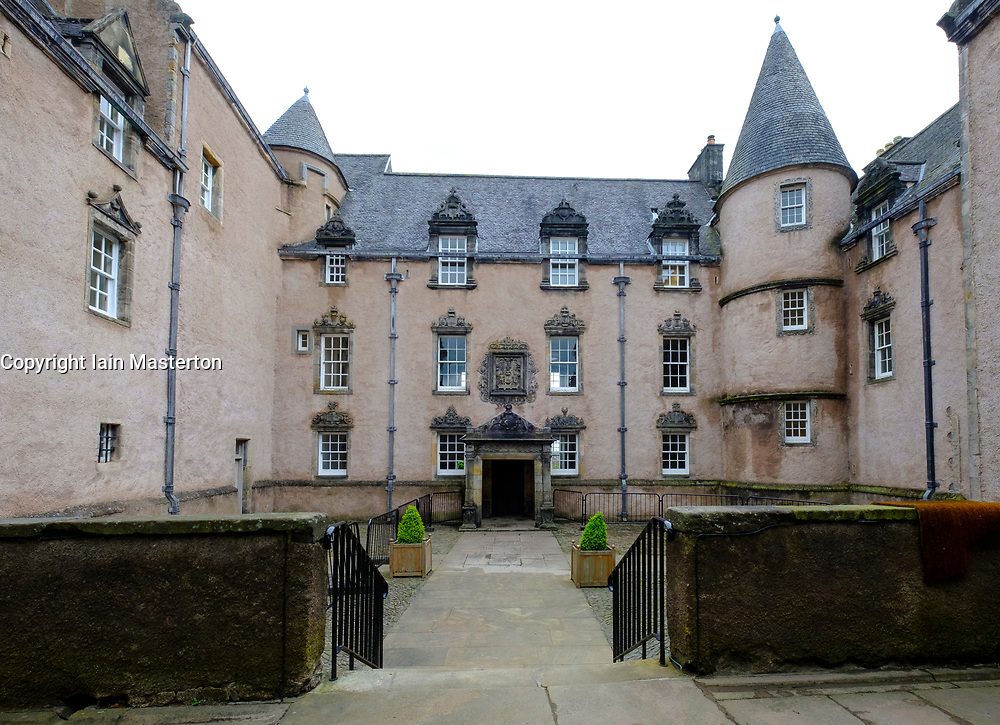 Exterior view of Argyll's Lodging the most complete example of a 17th-century townhouse in Stirling, Scotland, UK