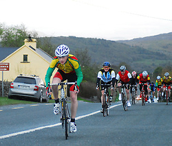 Castlebar's Liam Corcoran winning Race 2 of the Mayo League on thursday evening last...Pic Conor McKeown
