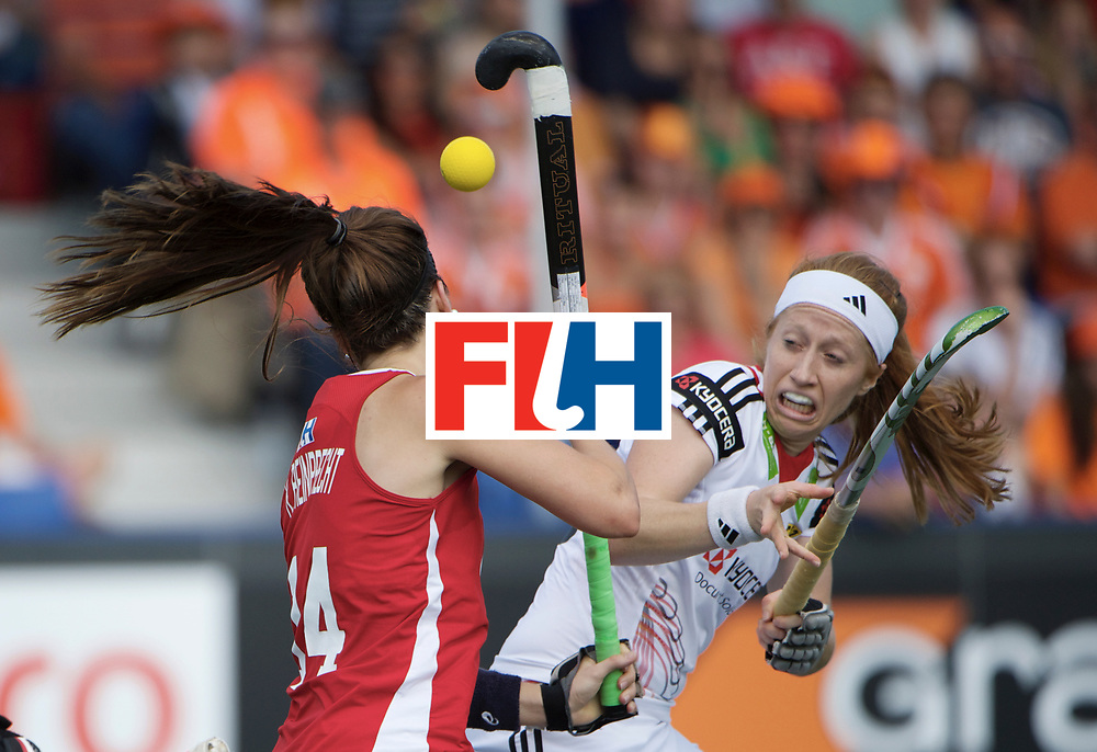 DEN HAAG - Rabobank Hockey World Cup<br /> 22 USA - Germany<br /> Foto:  Nina Hasselmann (white).<br /> COPYRIGHT FRANK UIJLENBROEK FFU PRESS AGENCY