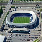 Sportstadions vanuit de lucht