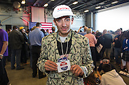 Trump fan at  Republican presidential candidate Donald Trump's campaign rally in New Orleans. <br /> The New Orleans rally on Friday, March 4, 2016 at Lakefront Airport took place a day before the primary vote.