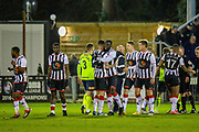 Maidenhead United celebrate at full time during the Vanarama National League match between Maidenhead United and Havant & Waterlooville FC at York Road, Maidenhead, United Kingdom on 26 March 2019.