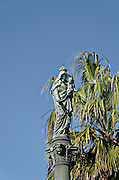 Israel, Haifa, the Stella Maris Carmelite Church, Mt. Carmel statue of the virgin Carmen Virgen del Carmen Reina de Chile