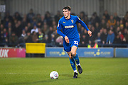 AFC Wimbledon defender Ryan Delaney (21) dribbling during the EFL Sky Bet League 1 match between AFC Wimbledon and Southend United at the Cherry Red Records Stadium, Kingston, England on 1 January 2020.