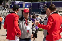 Weinberg Peter, GER, Bruynseels Niels, BEL, Wathelet Gregory, BEL, Verlooy Jos,BEL<br /> Rotterdam - Europameisterschaft Dressur, Springen und Para-Dressur 2019<br /> Parcoursbesichtigung<br /> Longines FEI Jumping European Championship - 1st part - speed competition against the clock<br /> 1. Runde Zeitspringen<br /> 21. August 2019<br /> © www.sportfotos-lafrentz.de/Dirk Caremans