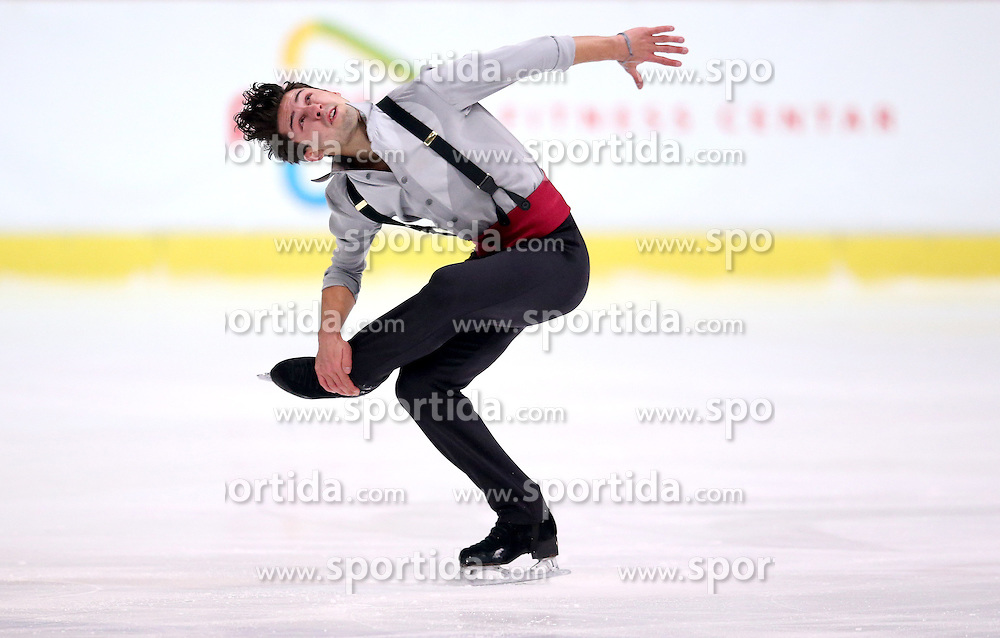 04.12.2015, Dom Sportova, Zagreb, CRO, ISU, Golden Spin of Zagreb, freies Programm, Herren, im Bild Liam Firus, Canada. // during the 48th Golden Spin of Zagreb 2015 men Free Program of ISU at the Dom Sportova in Zagreb, Croatia on 2015/12/04. EXPA Pictures &copy; 2015, PhotoCredit: EXPA/ Pixsell/ Igor Kralj<br /> <br /> *****ATTENTION - for AUT, SLO, SUI, SWE, ITA, FRA only*****