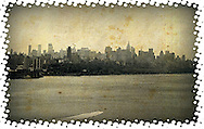 New York skyline from George Washington Bridge,shot with Iphone,black and white cellphone photography,Iphone pictures,smartphone pictures