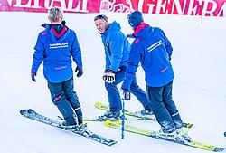 10.01.2020, Streif, Kitzbühel, AUT, FIS Weltcup Ski Alpin, Schneekontrolle durch die FIS, im Bild v.l. Herbert Hauser (Pistenchef Streif), Hannes Trinkl (FIS Renndirektor), Mario Mittermayer-Weinhandl (HKR Rennleiter) // f.l. Herbert Hauser slope Manager Streif Mario Mittermayer-Weinhandl race direktor HKR and Mario Mittermayer-Weinhandl race direktor HKR during snow control by the FIS for the FIS ski alpine world cup at the Streif in Kitzbühel, Austria on 2020/01/10. EXPA Pictures © 2020, PhotoCredit: EXPA/ Stefan Adelsberger