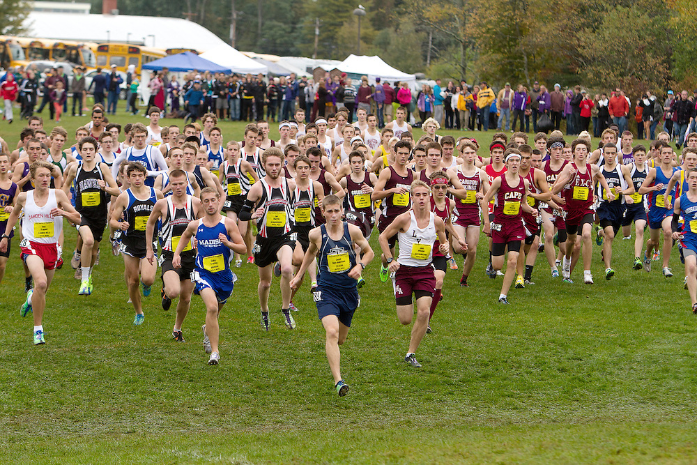 Festival of Champions High School Cross Country meet, start, boys seeded