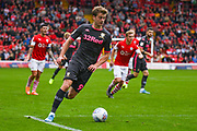 Leeds United forward Patrick Bamford (9) during the EFL Sky Bet Championship match between Barnsley and Leeds United at Oakwell, Barnsley, England on 15 September 2019.