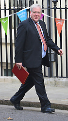 © Licensed to London News Pictures. 11/09/2012. Westminster, UK Secretary of State for Transport - Patrick McLoughlin. MP's arrive for Cabinet at number 10 Downing Street today 11/09/12. Photo credit : Stephen Simpson/LNP1