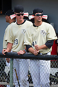 April 29, 2012: In the UCF dugout rhp Matt Collins (43) and UCF lhp Chris Matulis (41) in the 9th inning during game 3 of C-USA NCAA baseball game action between the Memphis Tigers and the Central Florida Knights. Memphis defeated UCF 1-0 to win the series at Jay Bergman Field in Orlando, FL