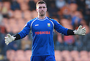 Barnet goalkeeper Jamie Stephens during the Sky Bet League 2 match between Barnet and Exeter City at The Hive Stadium, London, England on 31 October 2015. Photo by Bennett Dean.
