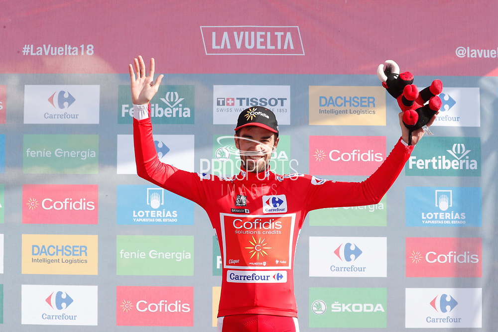 Jesus Herrada (ESP, Cofidis), podium during the 73th Edition of the 2018 Tour of Spain, Vuelta Espana 2018, Stage 13 cycling race, Candas Carreno - La Camperona 174,8 km on September 7, 2018 in Spain - Photo Luca Bettini / BettiniPhoto / ProSportsImages / DPPI