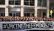 Waking the Feminists event outside The Abbey Theatre. ©Tamara Him