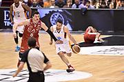 DESCRIZIONE : Milano Lega A 2014-15 <br /> EA7 Olimpia Milano - Acea Virtus Roma <br /> GIOCATORE : Rok Stipcevic<br /> CATEGORIA : contropiede palleggio <br /> SQUADRA : Acea Virtus Roma <br /> EVENTO : Campionato Lega A 2014-2015 <br /> GARA : EA7 Olimpia Milano - Acea Virtus Roma<br /> DATA : 12/04/2015<br /> SPORT : Pallacanestro <br /> AUTORE : Agenzia Ciamillo-Castoria/GiulioCiamillo<br /> Galleria : Lega Basket A 2014-2015  <br /> Fotonotizia : Milano Lega A 2014-15 EA7 Olimpia Milano - Acea Virtus Roma
