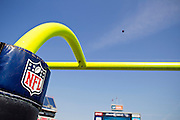 NASHVILLE, TN - SEPTEMBER 18:   NFL football being kicked through the goal posts before a game between the Tennessee Titans and the Baltimore Ravens at LP Field on September 18, 2011 in Nashville, Tennessee.  The Titans defeated the Ravens 26 to 13.  (Photo by Wesley Hitt/Getty Images) *** Local Caption ***