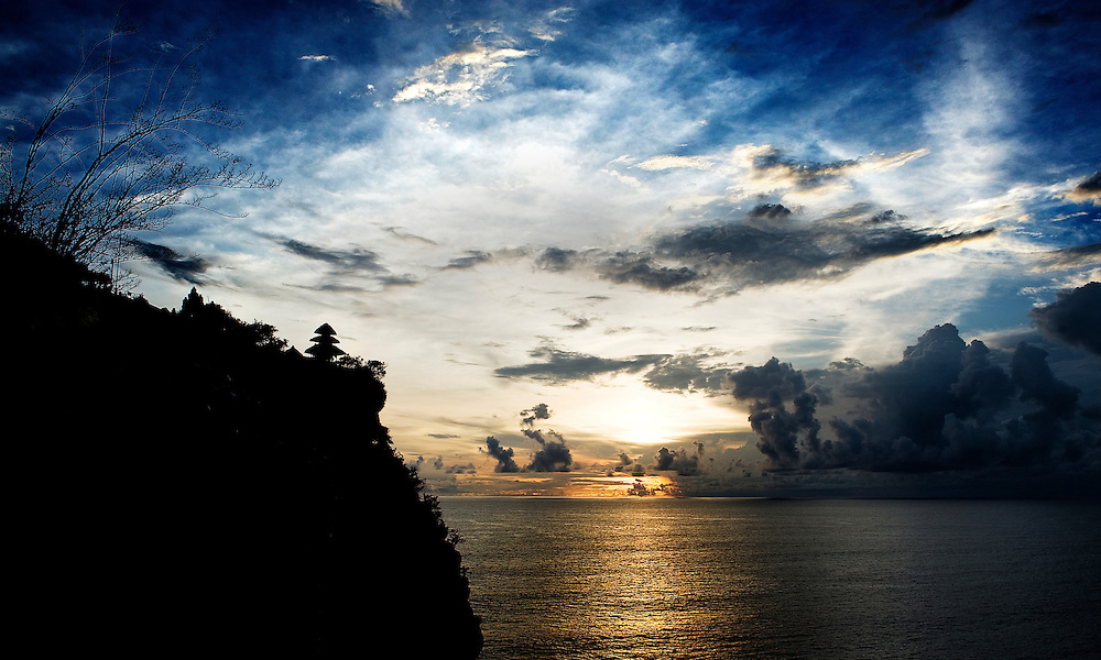 Sunset at Uluwatu Temple of Bali, Indonesia